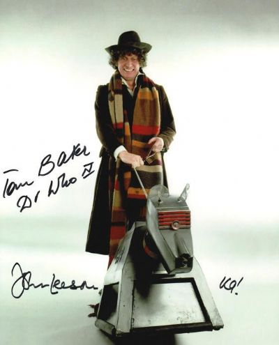 Tom Baker and John Leeson Autograph Signed Photo - Doctor Who